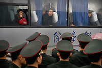 Visitors arrive on buses at the Memorial Hall of the Nanjing Massacre in Nanjing, Jiangsu, China on Dec. 13, 2009.  On Dec. 13, 2009, thousands of people visited The Memorial Hall of the Nanjing Massacre in Nanjing, Jiangsu, China, to remember those who died at the hands of Japanese soldiers in 1937-8.  The day marked the 72nd anniversary of the start of the massacre. The historical account has always been mired in controversy, and differing opinions on what actually happened have been a consistent obstacle to relations between China and Japan.  China's official account of history states that 300,000 people were killed by Japanese forces over a 6-week period starting Dec. 13, 1937