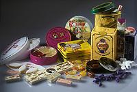 Gastronomie Generale: Confiseries de France-Anis de Flavigny, Négus de Nevers, Praline de Montargis,P'tits Quinquins, Calisson d'Aix, Nougat de Montélimar, Bergamote de Nancy