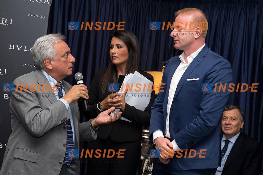 Arturo Diaconale, Igli Tare<br /> Roma 30-05-2017 Circolo Canottieri Aniene <br /> Premi Ussi 2017 Foto Andrea Staccioli / Insidefoto