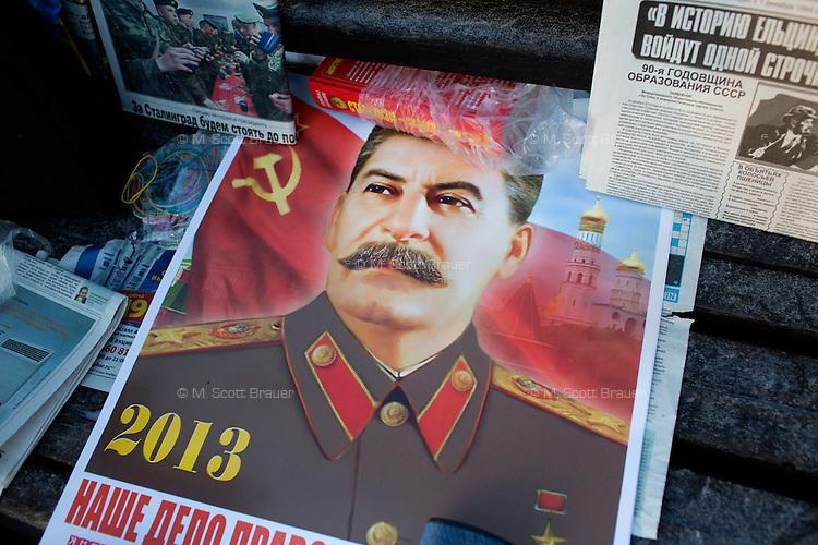 Stalin propaganda at Communist rally