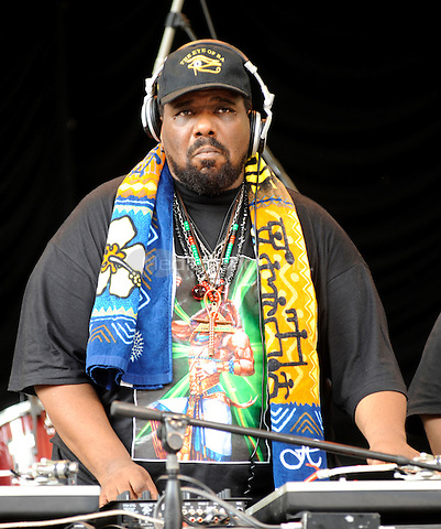 Afrika Bambaataa, the legendary DJ and community leader from the South Bronx, performing live at Central Park Summerstage in New York City on July 6, 2008. Credit: Atlas/MediaPunch