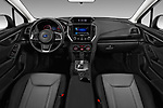 Stock photo of straight dashboard view of a 2018 Subaru Crosstrek 4wd 5 Door SUV