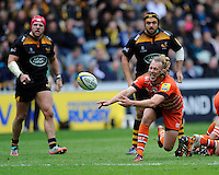 Sam Harrison of Leicester Tigers starts another phase of attack