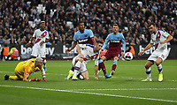Crystal Palace's Gary Cahill clears the ball<br /> <br /> Photographer Rob Newell/CameraSport<br /> <br /> The Premier League - West Ham United v Crystal Palace - Saturday 5th October 2019 - London Stadium - London<br /> <br /> World Copyright © 2019 CameraSport. All rights reserved. 43 Linden Ave. Countesthorpe. Leicester. England. LE8 5PG - Tel: +44 (0) 116 277 4147 - admin@camerasport.com - www.camerasport.com