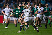 16th March 2018, Ricoh Arena, Coventry, England; Womens Six Nations Rugby, England Women versus Ireland Women; Louise Galvin of Ireland runs towards Danielle Waterman of England