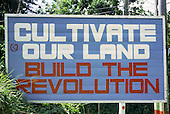 GRENADA.Roadside hoarding erected by the revolutionary government of Maurice Bishop