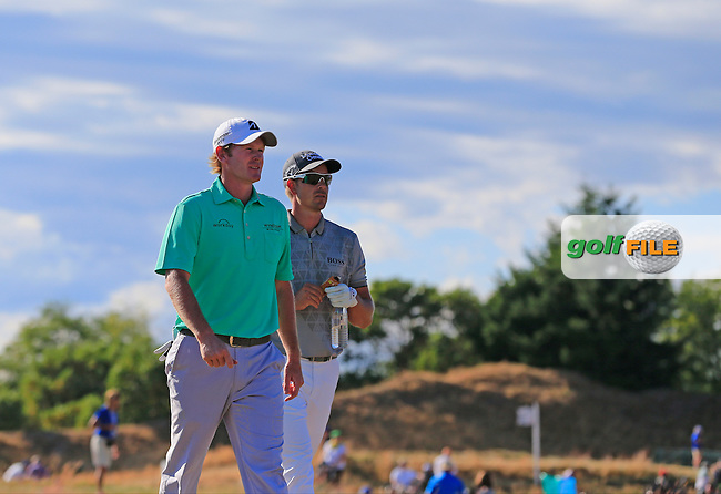 Brandt SNEDEKER (USA) andd Henrik Stenson (SWE) walk off the 4th tee during Friday's Round 2 of the 2015 U.S. Open 115th National Championship held at Chambers Bay, Seattle, Washington, USA. 6/20/2015.<br /> Picture: Golffile   Eoin Clarke<br /> <br /> <br /> <br /> <br /> All photo usage must carry mandatory copyright credit (&copy; Golffile   Eoin Clarke)