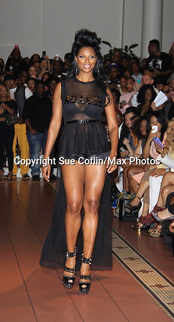 Jennifer Williams - Basketball Wives walks at Samantha Black Fashion Show - NYC Fashion Week - September 7, 2013 - New York City, NY (Photo by Sue Coflin/Max Photos)