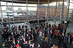 The Welsh rugby team celebrate winning the Grand Slam in the Six Nations rugby tournament at The Senydd in Cardiff Bay..Drinks reception inside the Senydd.