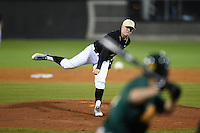UCF Knights pitcher Zach Rodgers (39) delivers a pitch during the opening game of the season against the Siena Saints on February 13, 2015 at Jay Bergman Field in Orlando, Florida.  UCF defeated Siena 4-1.  (Mike Janes/Four Seam Images)