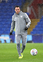 26th November 2019; Cardiff City Stadium, Cardiff, Glamorgan, Wales; English Championship Football, Cardiff City versus Stoke City; Lee Tomlin of Cardiff City passes during warm up - Strictly Editorial Use Only. No use with unauthorized audio, video, data, fixture lists, club/league logos or 'live' services. Online in-match use limited to 120 images, no video emulation. No use in betting, games or single club/league/player publications