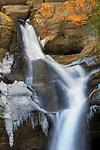 Cedar Falls Waterfall in winter
