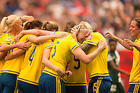 WINNIPEG, MANITOBA, CANADA - June 8, 2015: The Woman's World Cup Sweden vs Nigeria match at the Winnipeg Stadium .