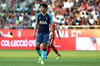 Son Heung-min of Tottenham  during Girona FC vs Tottenham Hotspur, Friendly Match Football at Estadi Montilivi on 4th August 2018