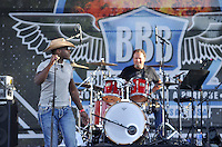 NWA Democrat-Gazette/MICHAEL WOODS &bull; @NWAMICHAELW<br /> Country singer Milton Patton performs on the main stage to kick off the live music for the 16th annual Bikes Blues and BBQ on Dickson Street in Fayetteville Wednesday September 23, 2015.