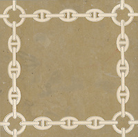 Bette, a stone water jet mosaic, shown in Ivory Cream and Lago Gold, is part of the Ann Sacks Beau Monde collection sold exclusively at www.annsacks.com