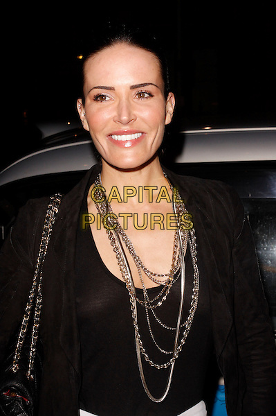 LONDON, ENGLAND - FEBRUARY 13: Sophie Anderton arrives at Petits Bisous anniversary party at Petits Bisous Boutique on February 13, 2014 in London, England.<br /> CAP/AH<br /> &copy;Adam Houghton/Capital Pictures