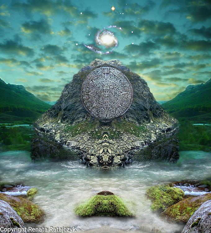Ancient Prophecies - Maya #1 - Fantasy Art - digitally enhanced photography.