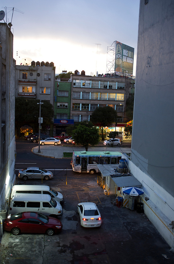 View from Olivie's window off of insurgentes and viaducto.  Mexico City.