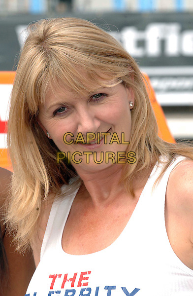 LOUISE GOODMAN.The Celebrity Driving Challenge, ExCeL, London, England..July 23rd, 2008.headshot portrait .CAP/WIZ.© Wizard/Capital Pictures.