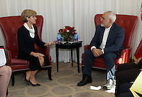 Foreign Minister Julie Bishop meets with Iranian Foreign Minister in New York. photo by Trevor Collens