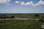 The peloton in action during Stage 6 of the 2018 Tour de France running 181km from Brest to Mur-de-Bretagne Guerledan, France. 12th July 2018. <br /> Picture: ASO/Pauline Ballet | Cyclefile<br /> All photos usage must carry mandatory copyright credit (© Cyclefile | ASO/Pauline Ballet)