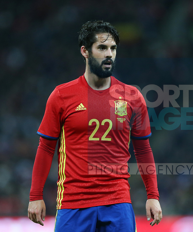 Spain's Isco in action during the friendly match at Wembley Stadium, London. Picture date November 15th, 2016 Pic David Klein/Sportimage