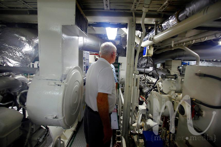 Engine room aboard the Star Flyer, Isla Tortuga, Costa Rica, March 16, 2013.