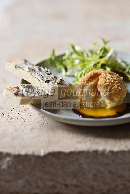 Oeuf mollet, roulé à la mie de pain et truffe - recette de Christian Constant EXCLU: EDITION LIVRE CUISINE DU SUD-OUEST