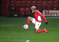 Lyle Taylor of Charlton kicks the ball just wide of the Mansfield goal during Charlton Athletic vs Mansfield Town, Emirates FA Cup Football at The Valley on 20th November 2018