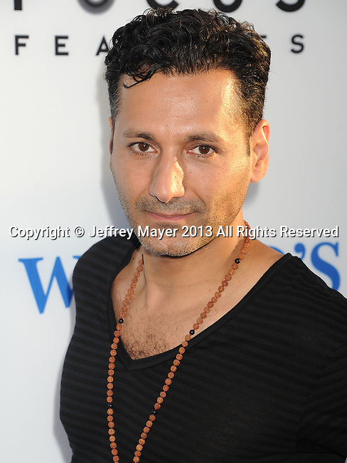 HOLLYWOOD, CA- AUGUST 21: Actor Cas Anvar arrives at the Los Angeles premiere of 'The World's End' at ArcLight Cinemas Cinerama Dome on August 21, 2013 in Hollywood, California.