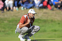 Sergio Garcia (Team Europe) on the 9th green during Saturday's Foursomes Matches at the 2018 Ryder Cup 2018, Le Golf National, Ile-de-France, France. 29/09/2018.<br /> Picture Eoin Clarke / Golffile.ie<br /> <br /> All photo usage must carry mandatory copyright credit (&copy; Golffile | Eoin Clarke)