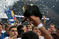 SÃO PAULO, SP 21.04.2019: CORINTHIANS-SÃO PAULO - Jogadores comemoram o tri campeonato. Corinthians e São Paulo durante o jogo de volta, válido pela final do Campeonato Paulista na Arena Corinthians, zona leste da capital, na tarde deste domingo (21). (Foto: Ale Frata/Codigo19)