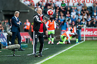 Francesco Guidolin, Manager of Swansea City  during the Barclays Premier League match between Swansea City and Manchester City played at the Liberty Stadium, Swansea on the 15th of May  2016