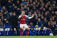 Arsenal's Jack Wilshere reacts <br /> <br /> Photographer Craig Mercer/CameraSport<br /> <br /> The Carabao Cup - Semi-Final 1st Leg - Chelsea v Arsenal - Wednesday 10th January 2018 - Stamford Bridge - London<br />  <br /> World Copyright &copy; 2018 CameraSport. All rights reserved. 43 Linden Ave. Countesthorpe. Leicester. England. LE8 5PG - Tel: +44 (0) 116 277 4147 - admin@camerasport.com - www.camerasport.com