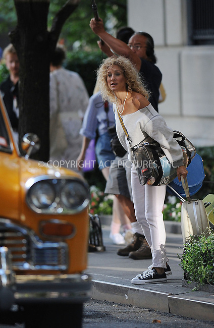 WWW.ACEPIXS.COM . . . . . ....Spetember 1 2009, New York City....Actor Sarah Jessica Parker on the set of the new movie 'Sex and the City 2' on the Upper East Side of Manhattan on September 1 2009 in New York City....Please byline: KRISTIN CALLAHAN - ACEPIXS.COM.. . . . . . ..Ace Pictures, Inc:  ..tel: (212) 243 8787 or (646) 769 0430..e-mail: info@acepixs.com..web: http://www.acepixs.com