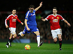 Nemanja Matic of Chelsea takes a shot on goal - English Premier League - Manchester Utd vs Chelsea - Old Trafford Stadium - Manchester - England - 28th December 2015 - Picture Simon Bellis/Sportimage