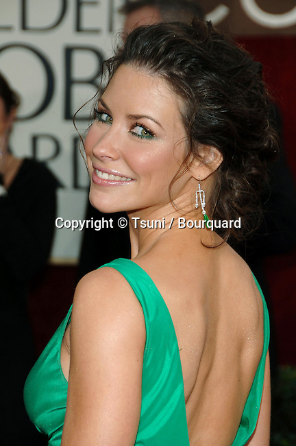 Lili Evangelina arriving at the Golden Globes Awards at the Beverly Hilton Hotel in Los Angeles. January 16, 2006.