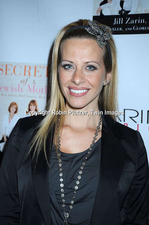 """Dina Manzo of """"The Real Housewives of New Jersey"""" at Jill Zarin's book party for """"Secrets Of a Jewish Mother;*Real Advice, Real Stories, Real Love*.on April 13, 2010 at Zarin Fabrics in New York City."""