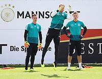 Torwart Manuel Neuer (Deutschland Germany) beim Sprungtraining - 28.05.2018: Training der Deutschen Nationalmannschaft zur WM-Vorbereitung in der Sportzone Rungg in Eppan/Südtirol