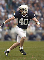 18 November 2006:  Penn State LB Dan Connor (40).&amp;#xD;The Penn State Nittany Lions defeated the Michigan State Spartans 17-13 for the Land Grant Trophy November 18, 2006 at Beaver Stadium in State College, PA.&amp;#xD;<br />