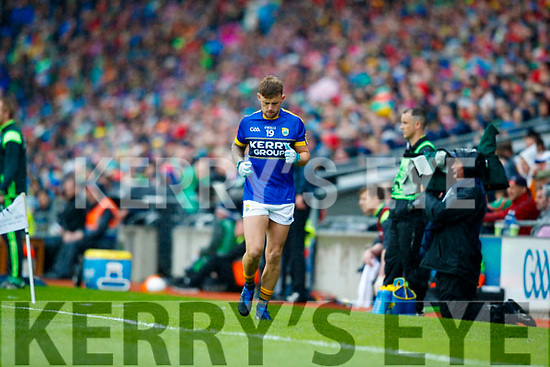 Barry John Keane Kerry in action against  Mayo in the All Ireland Semi Final in Croke Park on Sunday.