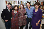 Chad Beguelin, Gretchen Cryer, Caitlin Kinnunen, Matthew Sklar and Beth Leavel attends the Dramatists Guild Fund Salon with Matthew Sklar and Chad Beguelin at the home of Gretchen Cryer on December 8, 2016 in New York City.