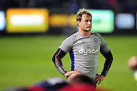 Jack Wilson of Bath Rugby looks on during the pre-match warm-up. Anglo-Welsh Cup match, between Bath Rugby and Leicester Tigers on November 4, 2016 at the Recreation Ground in Bath, England. Photo by: Patrick Khachfe / Onside Images