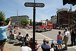 overview of the Saugerties July 4th Parade on Main Street in Saugerties, NY on Monday, July 4, 2011. Photo by Jim Peppler. Copyright © Jim Peppler 2011.