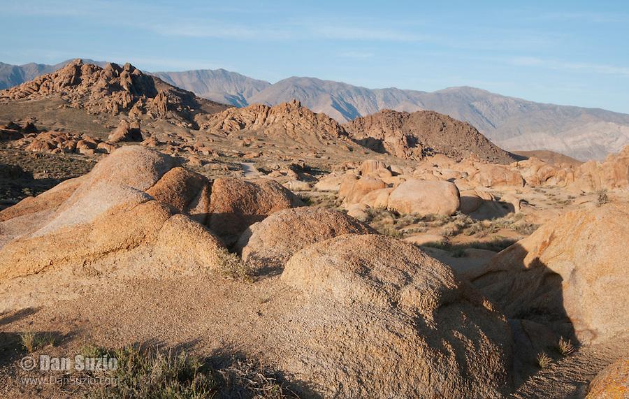 Granite boulders in the Alabama Hills, near Lone Pine, California