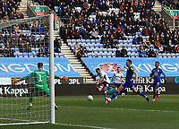 8th February 2020; DW Stadium, Wigan, Greater Manchester, Lancashire, England; English Championship Football, Wigan Athletic versus Preston North End; Scott Sinclair of Preston North End fires a shot across the face of goal