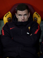 Football, Serie A: AS Roma - US Sassuolo, Olympic stadium, Rome, December 26, 2018. <br /> Roma's Edin Dzeko prior to the  Italian Serie A football match between Roma and Sassuolo at Rome's Olympic stadium, on December 26, 2018.<br /> UPDATE IMAGES PRESS/Isabella Bonotto