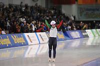 SPEEDSKATING: SALT LAKE CITY: 09-12-2017, Utah Olympic Oval, ISU World Cup, Mass Start Ladies, winner Francesca Lollobrigida (ITA), ©photo Martin de Jong