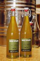 Bottle of olive oil from Sure les Quais Paris, France.